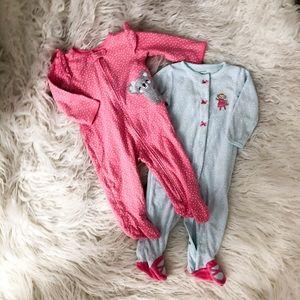 Set Baby Pajamas Polka Dots